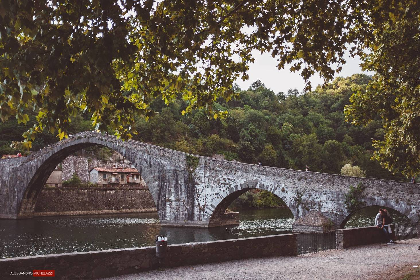 The devil's bridge close to Lucca in Tuscany