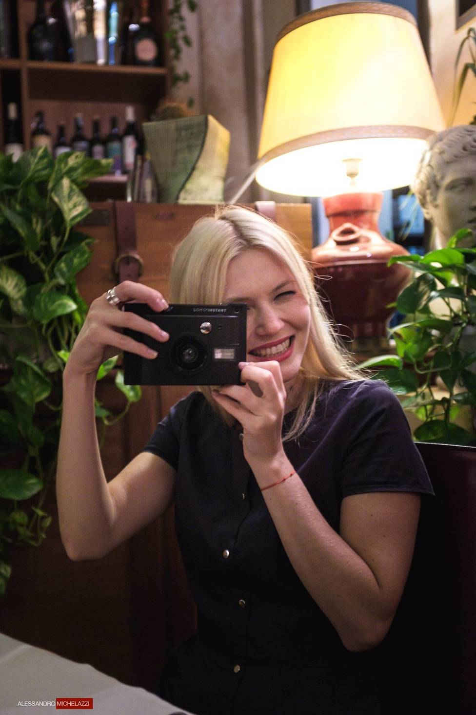 Olya and her new Lomo insta camera!