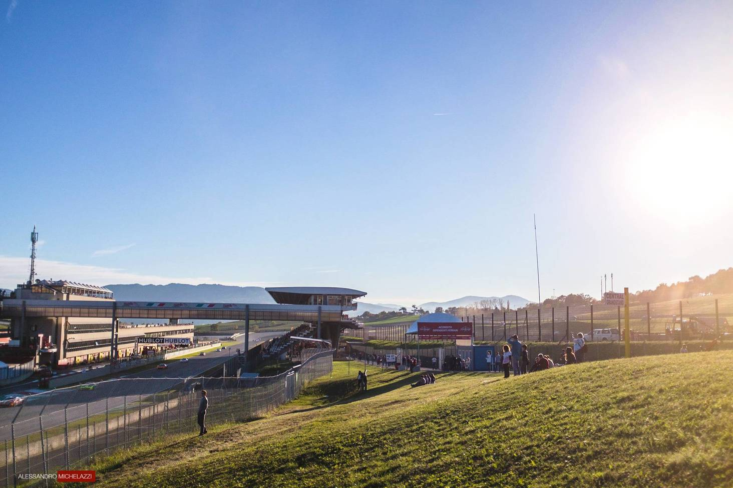 The Mugello Circuit at sunset