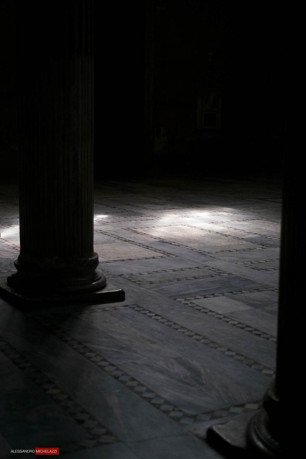 Light coming Inside the Church of Santa Sabina in Rome