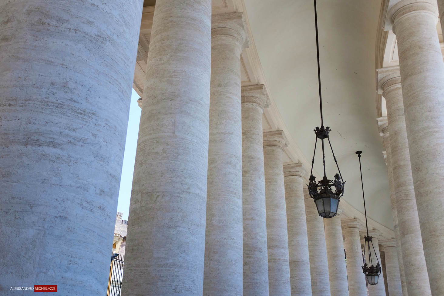 The iconic Column by Bernini , Piazza San Pietro in Rome