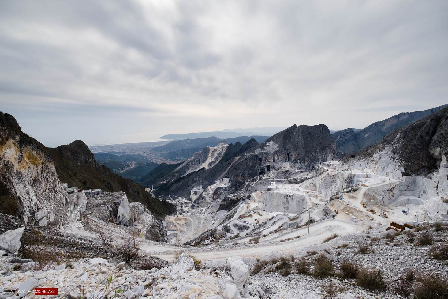 Carrara's marble quarries photographs, a look at the
