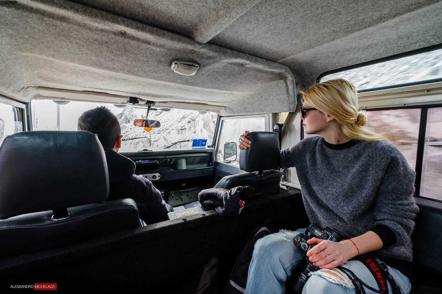 Inside Graziano's Jeep
