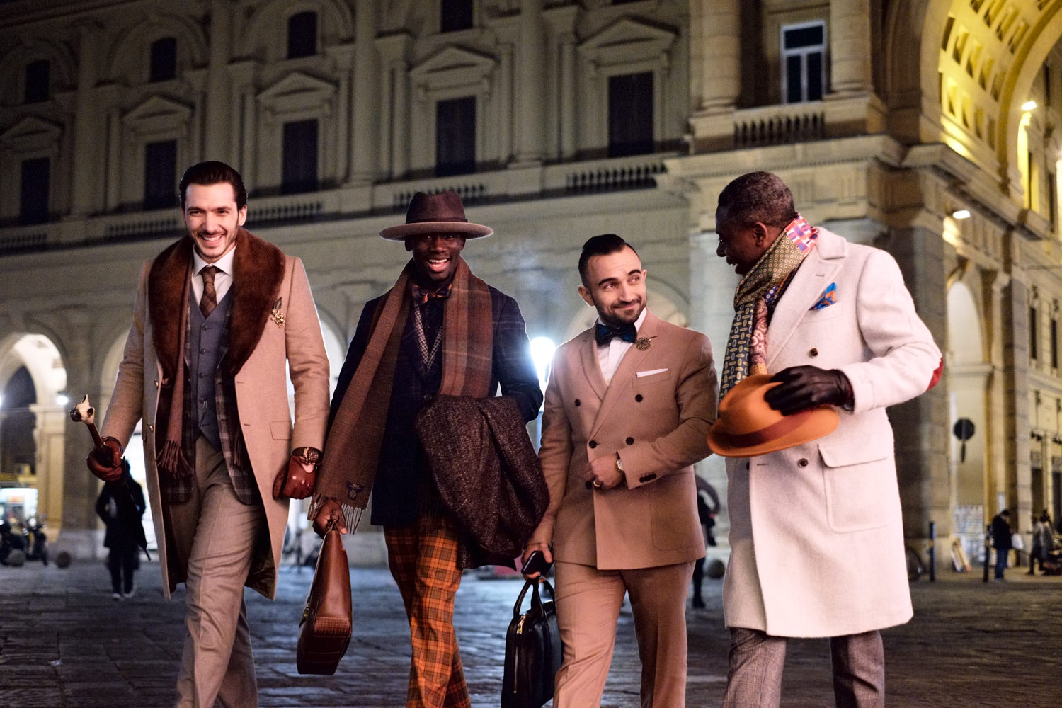 florence by night fashion shoot pitti immagine uomo