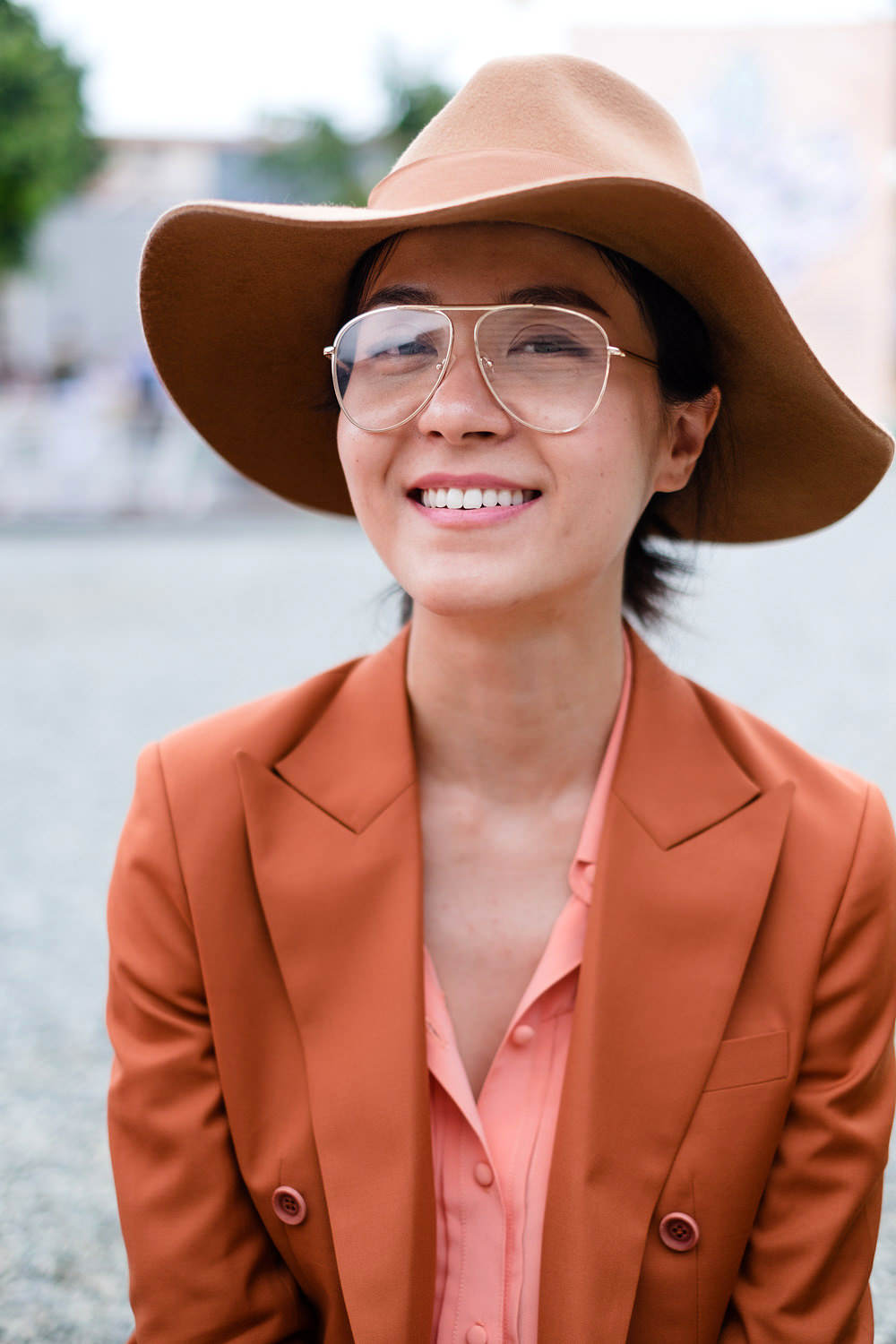 Woman at Pitti Immagine Uomo in Florence