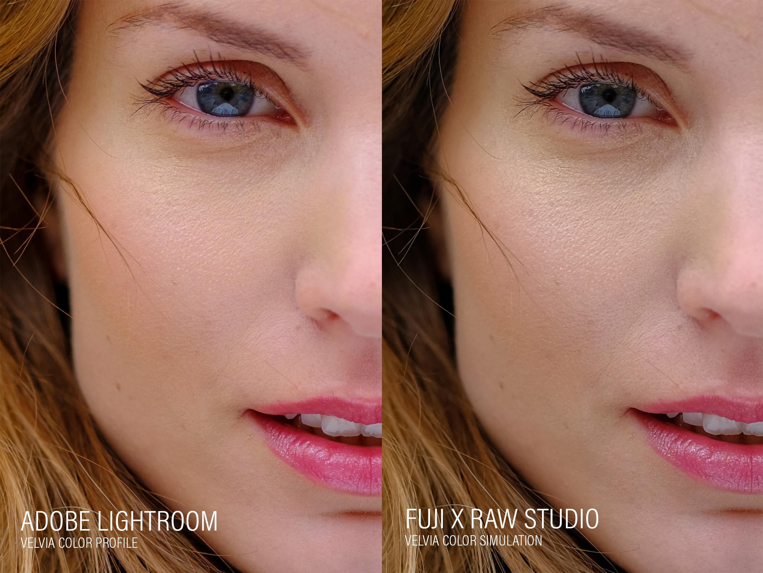 Fuji X Raw Studio use vs Lightroom: color rendering and details