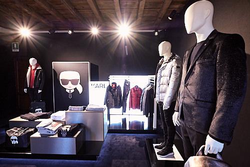 Karl Lagerfeld stand 93 Pitti Immagine Uomo