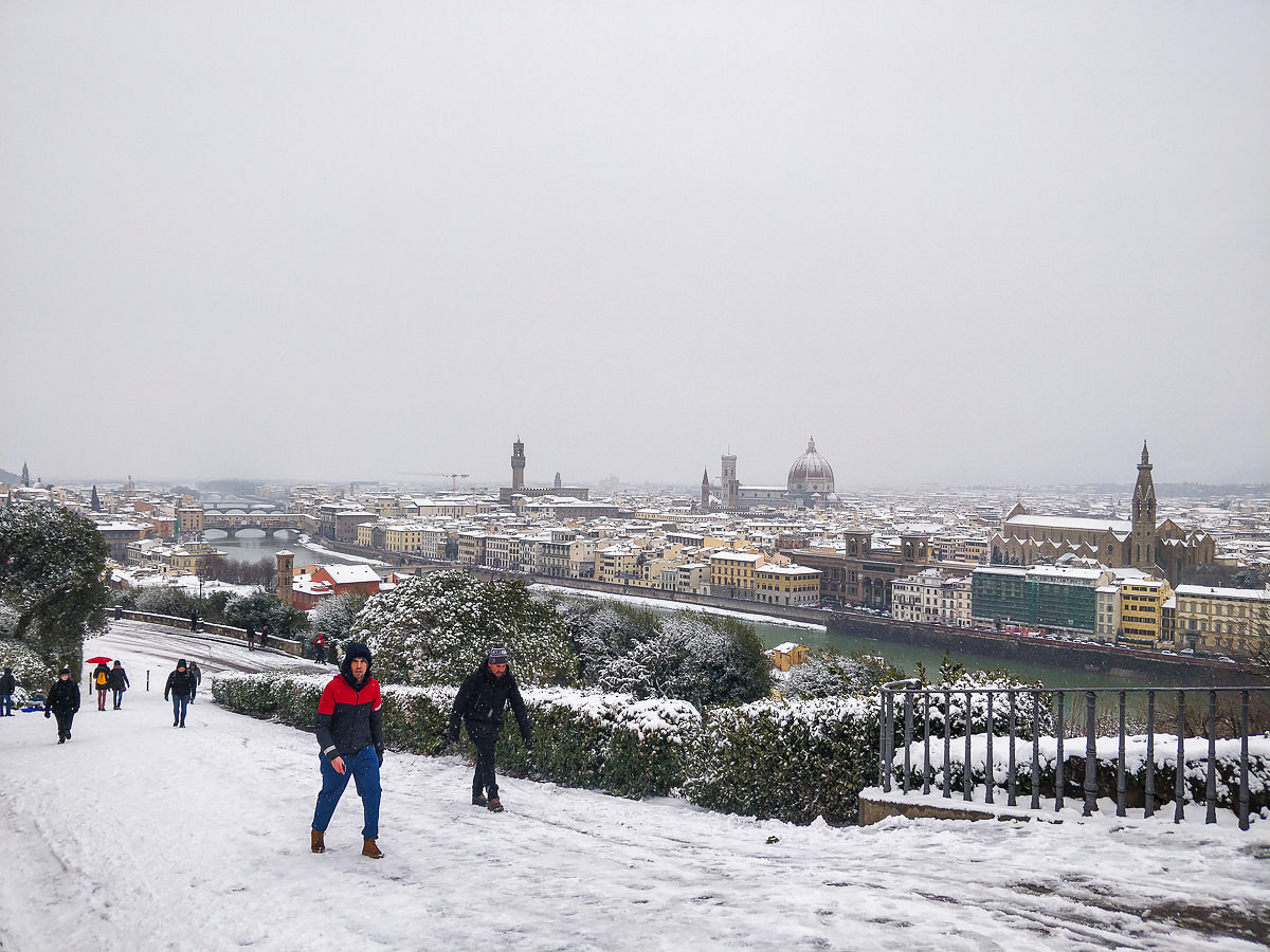 Florence under the snow photo reportage with OnePlus 5t