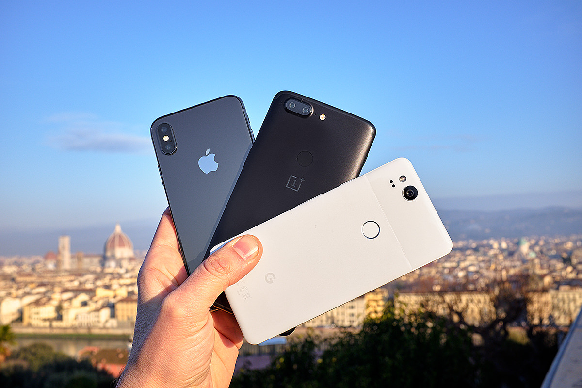 OnePlus 5t vs iPhoneX vs Google Pixel 2 Daylight Photography
