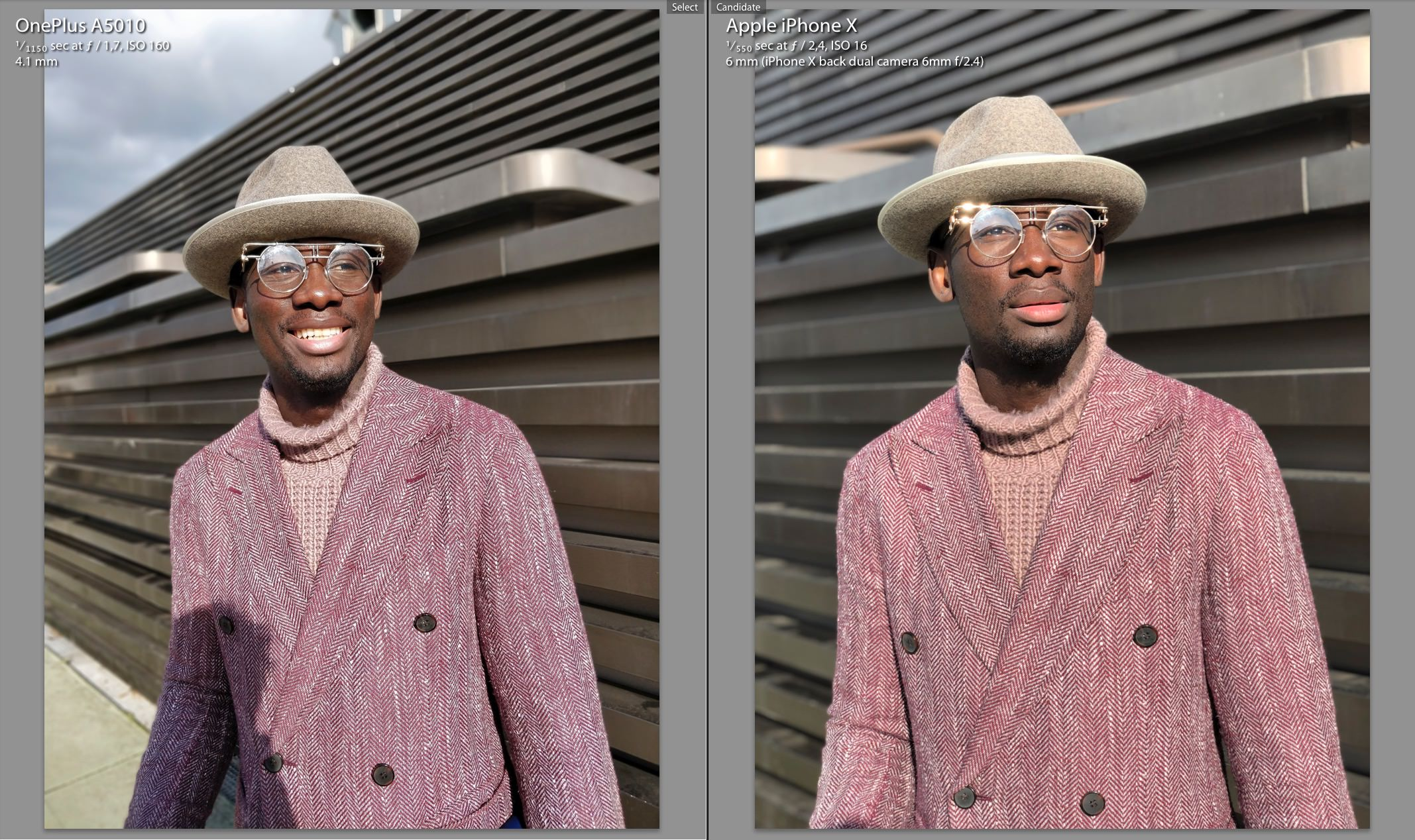 Portrait Mode OnePlus 5t Vs iPhone X