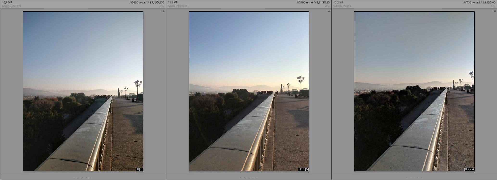 OnePlus 5t vs iPhoneX vs Google Pixel 2 Daylight Photography