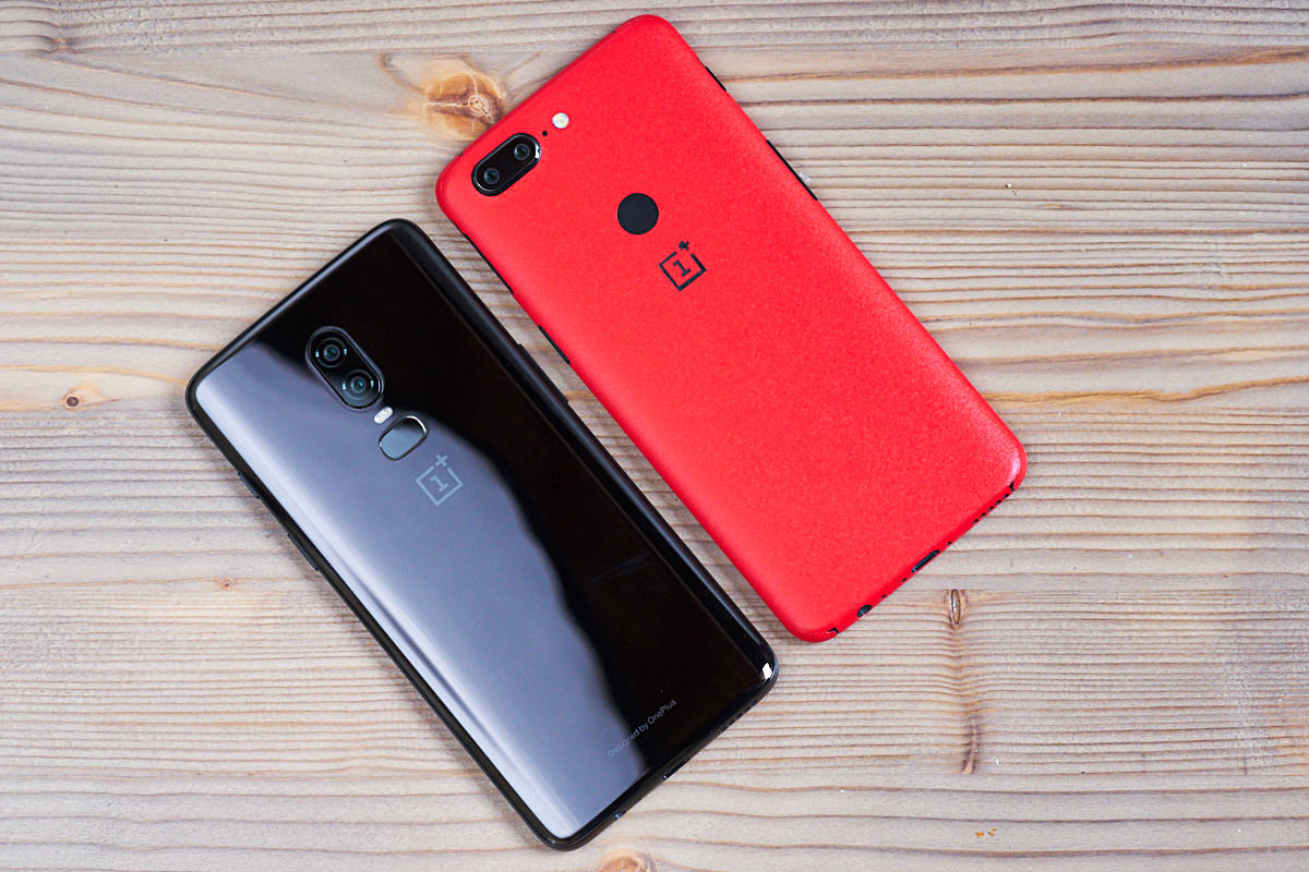 OnePlus 6 compared to OnePlus 5t photo