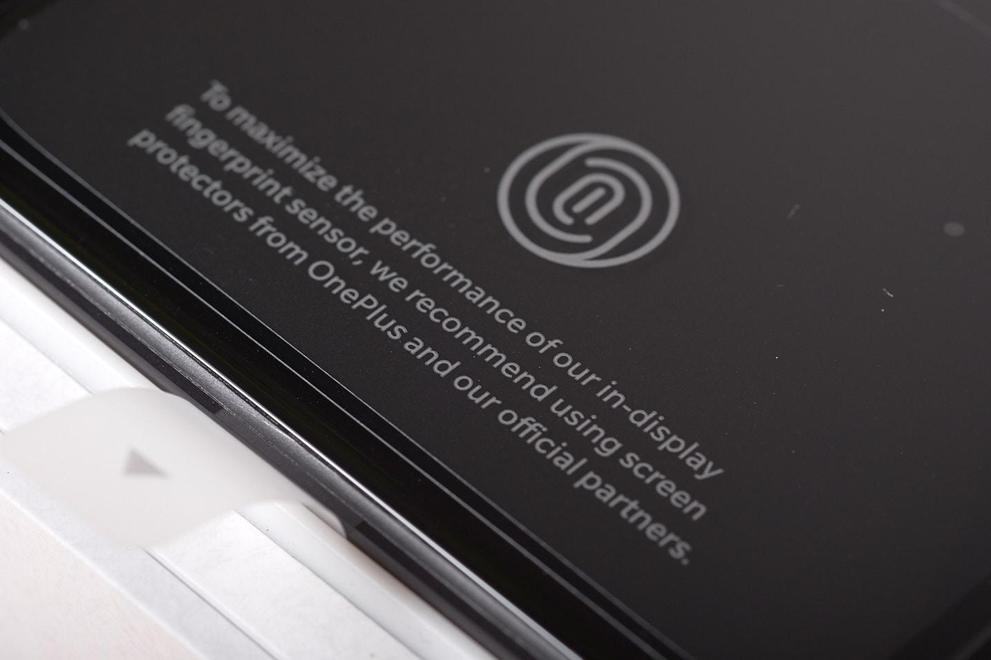 Under the screen fingerprint scanner