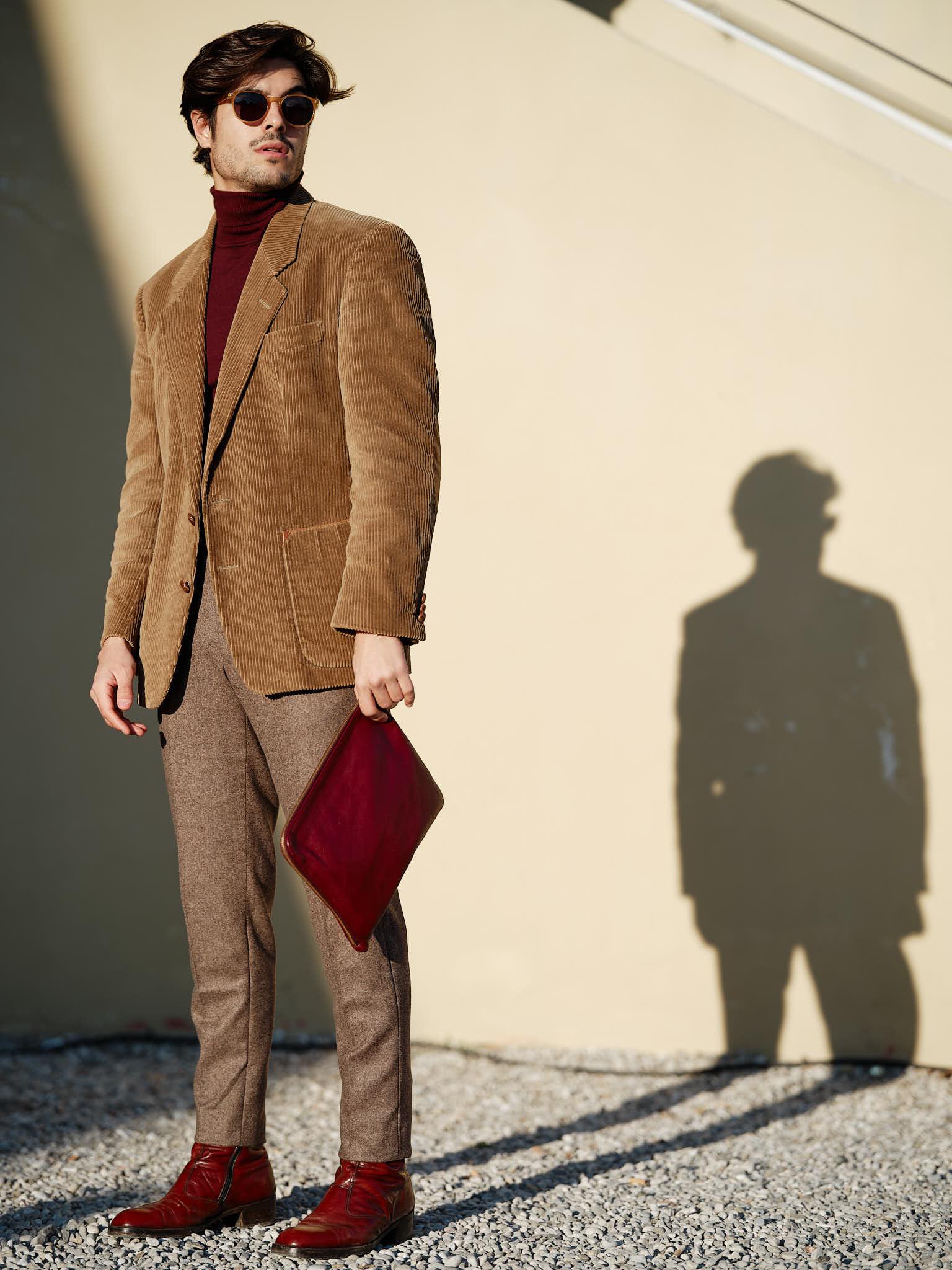 Fashion portrait in Florence at Pitti Immagine Uomo