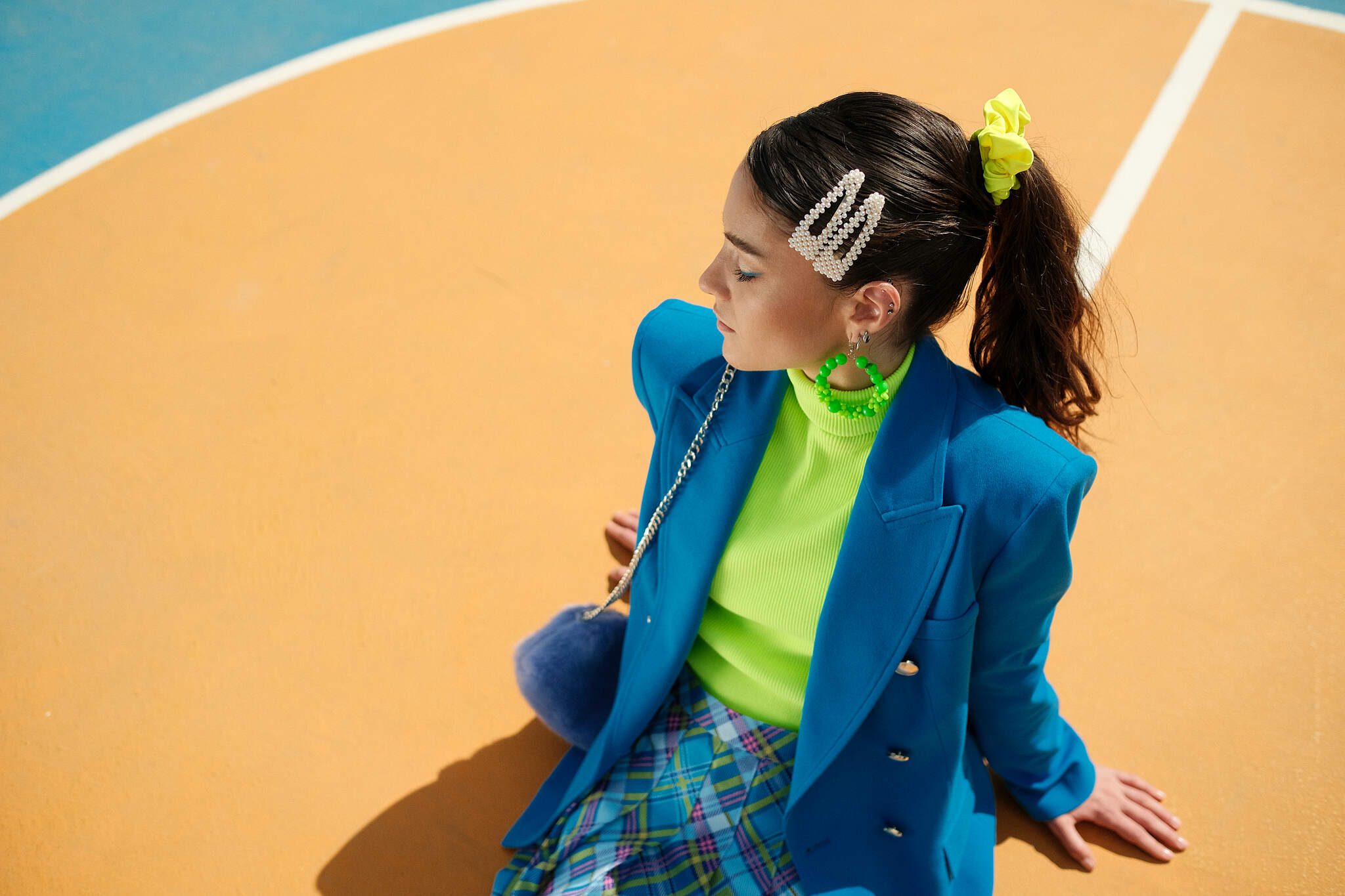 Portrait Fashion Photography Colorful Set with Fujifilm Camera in Italy by Alessandro Michelazzi