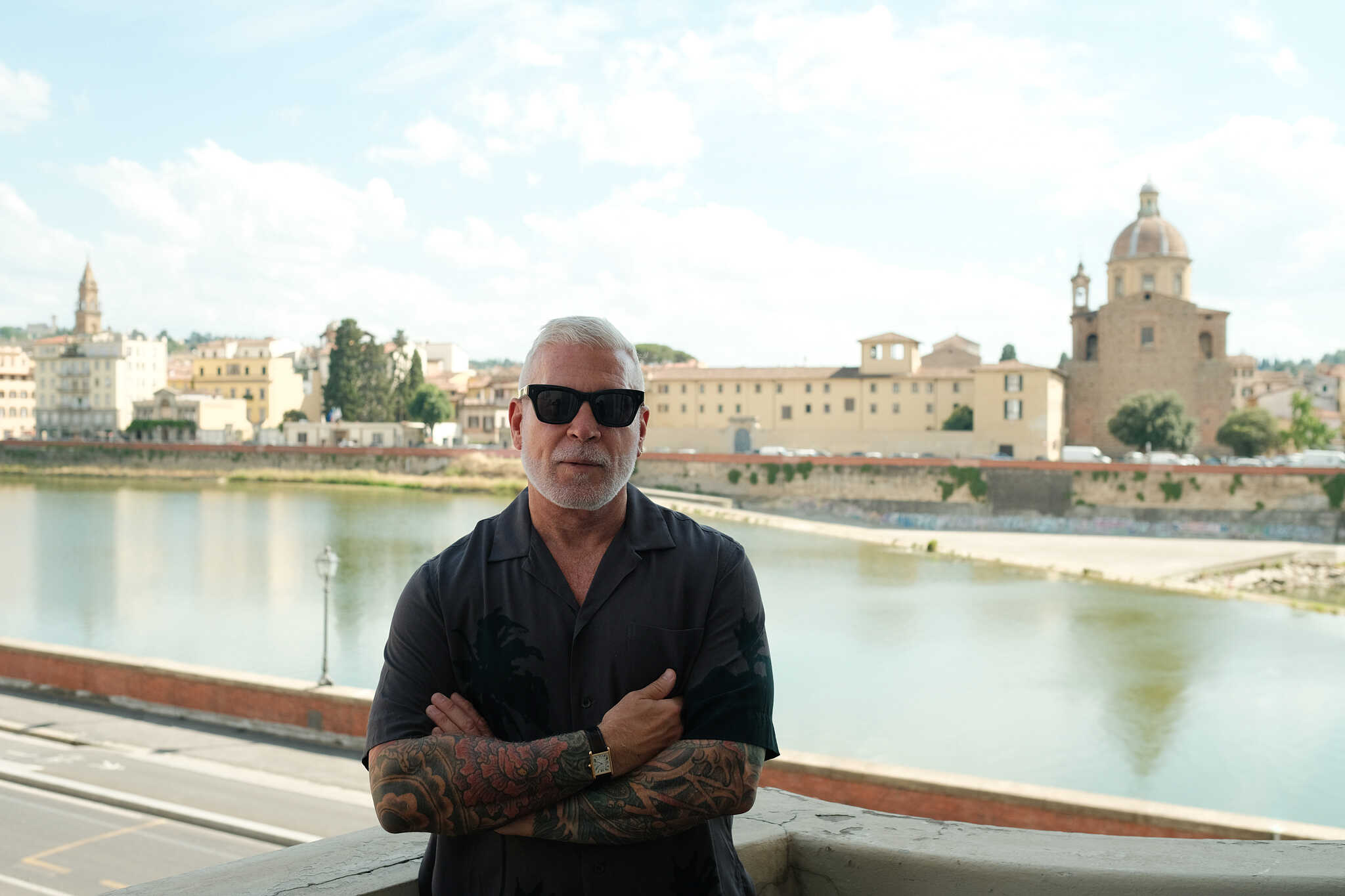 Nick Wooster, a style icon photographed in Florence during the fashion week by Alessandro Michelazzi